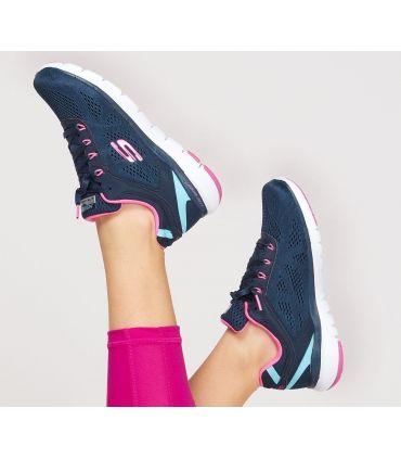 Zapatillas Skechers Flex Appeal 3.0 Steady Mujer Navy