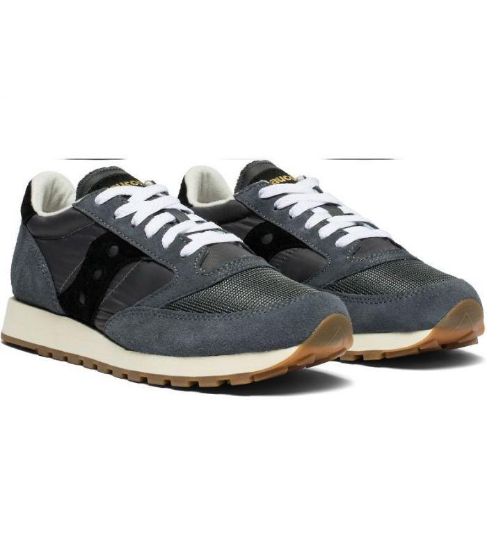 Compra online Zapatillas Saucony Jazz Vintage Sude Logo Hombre Grey Black en oferta al mejor precio