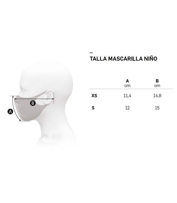 Compra online Mascarilla facial Ternua AirGill EU Kids Light Grey en oferta al mejor precio