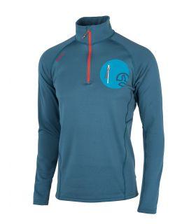 Camiseta Ternua Lezat 1/2 Zip Hombre Dark Lagoon. Oferta y Comprar online