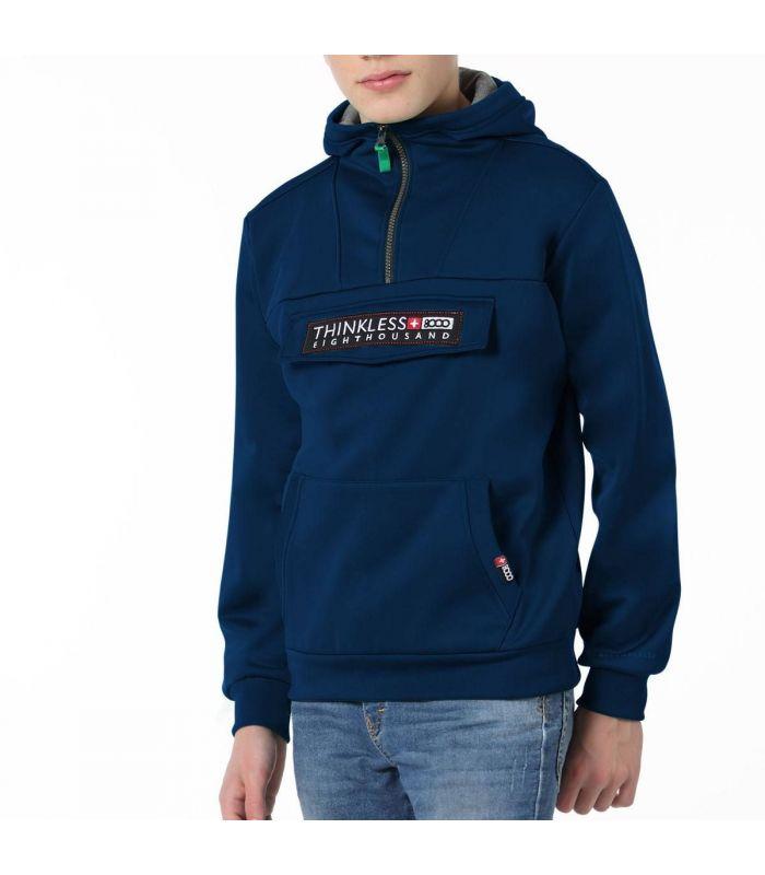Compra online Sudadera +8000 Ibon J 20I 067 Hombre Azul Oscuro en oferta al mejor precio