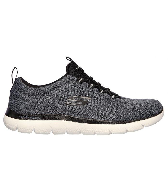 Compra online Zapatillas Skechers Summits Louvin Hombre Negro Blanco en oferta al mejor precio