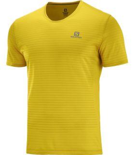 Camiseta Salomon MC Sense Hombre Lemon Curry. Oferta y Comprar online