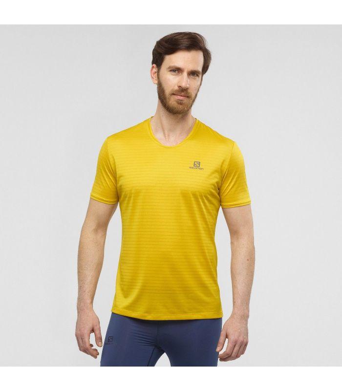 Compra online Camiseta Salomon MC Sense Hombre Lemon Curry en oferta al mejor precio