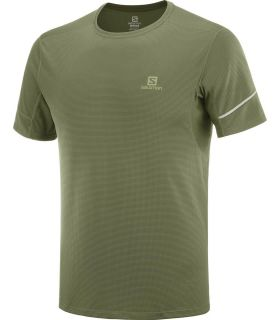 Camiseta running Salomon Agile SS Hombre Olive Night