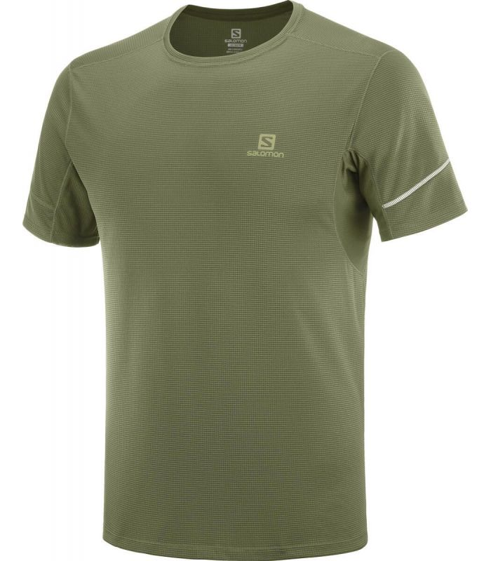 Compra online Camiseta running Salomon Agile SS Hombre Olive Night en oferta al mejor precio