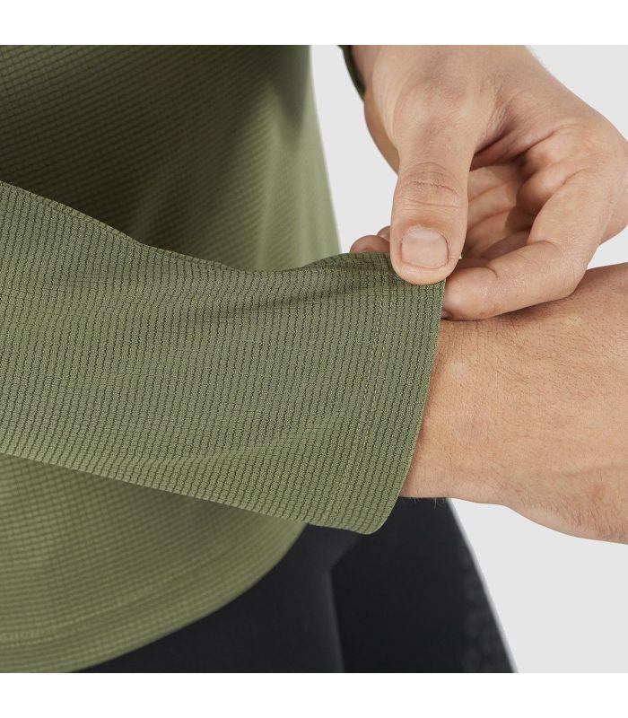 Compra online Camiseta Salomon Agile LS Hombre Olive Night en oferta al mejor precio