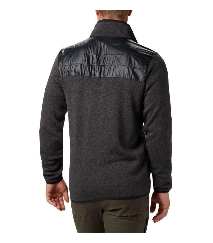Compra online Chaqueta Columbia Canyon Point Sweater Fleece Hombre Negro en oferta al mejor precio