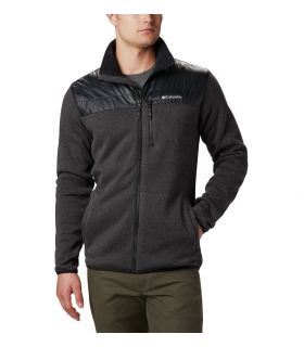 Chaqueta Columbia Canyon Point Sweater Fleece Hombre Negro. Oferta y Comprar online
