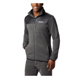 Chaqueta Columbia Canyon Point Sweater Fleece Hombre City Grey. Oferta y Comprar online