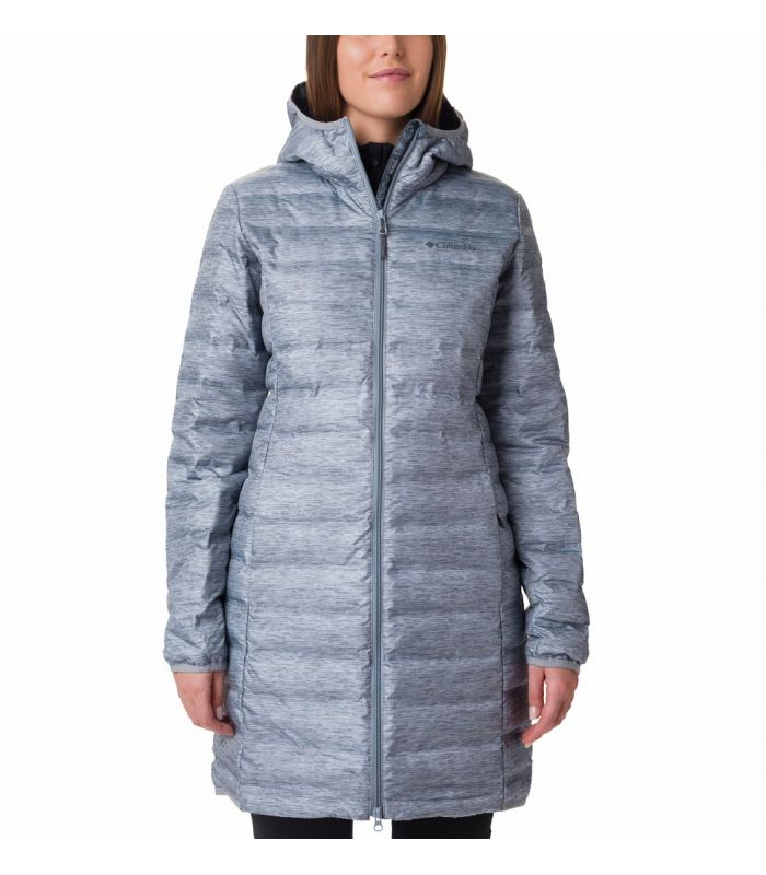 Compra online Chaqueta Columbia Lake 22 Down Long Hooded Jacket Mujer Grey en oferta al mejor precio
