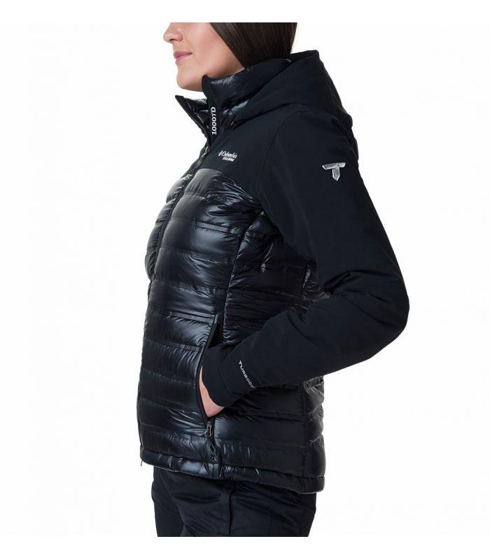 Compra online Chaqueta Columbia Heatzone 1000 TurboDown II Mujer Negro en oferta al mejor precio