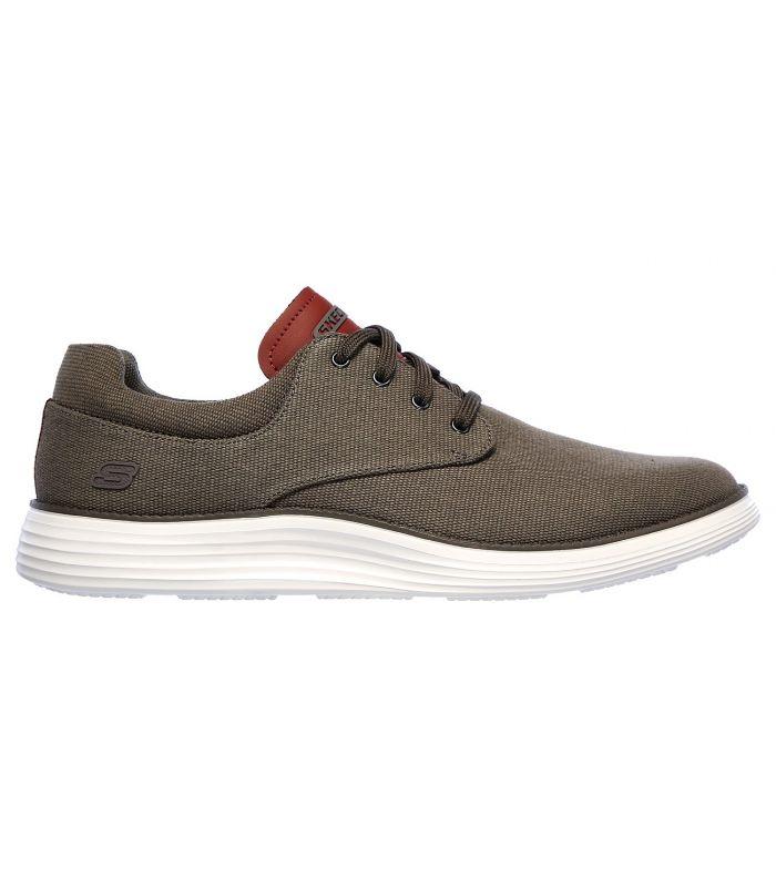 Compra online Zapatillas Skechers Status 2.0 Burbank Hombre Taupe Oscuro en oferta al mejor precio