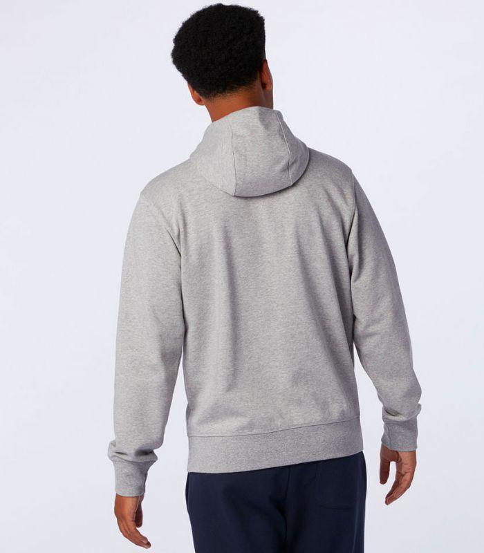 Compra online Sudadera New Balance Essentials Stacked Full Zip Hombre Gris en oferta al mejor precio