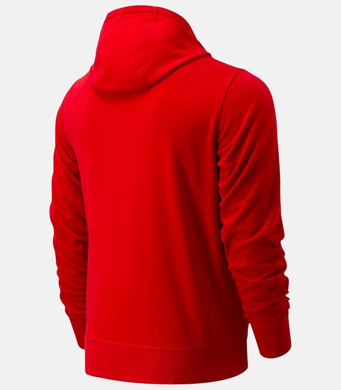 Compra online Sudadera New Balance Essentials Stacked Full Zip Hombre Rojo en oferta al mejor precio