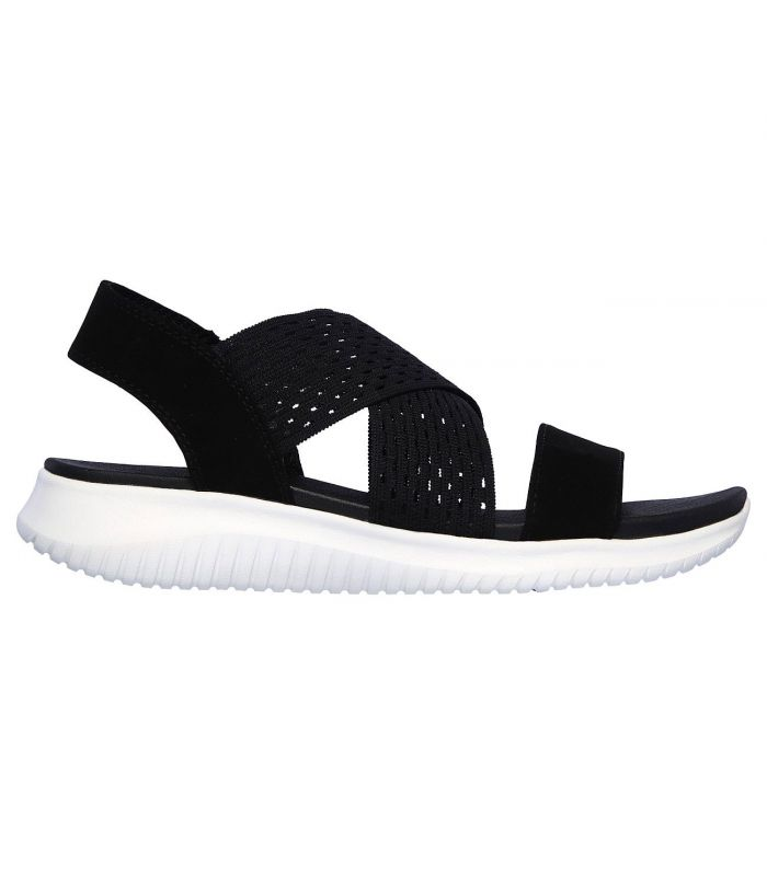 Compra online Sandalias Skechers Ultra Flex Neon Star Mujer Black en oferta al mejor precio