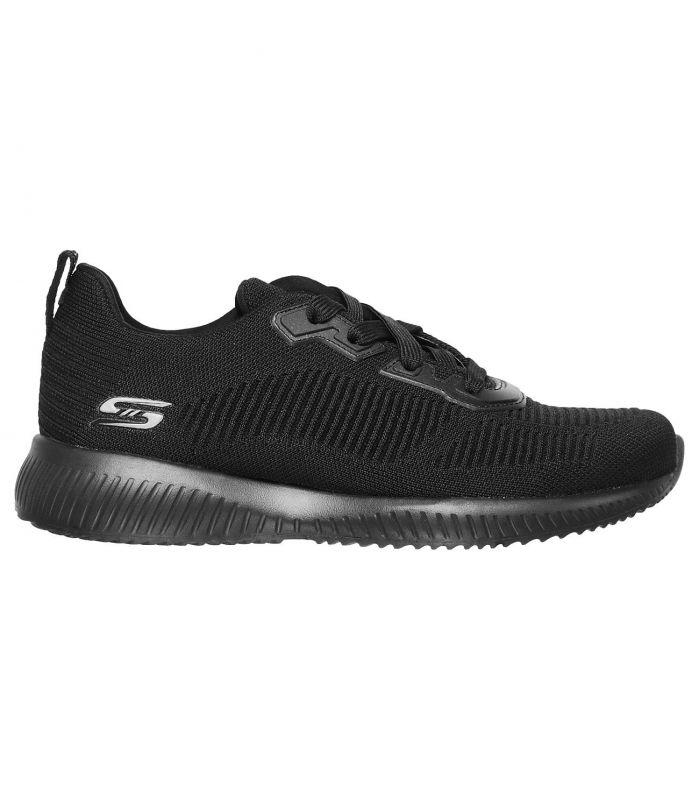 Compra online Zapatillas Skechers Bobs Squad Tough Talk Mujer Black en oferta al mejor precio
