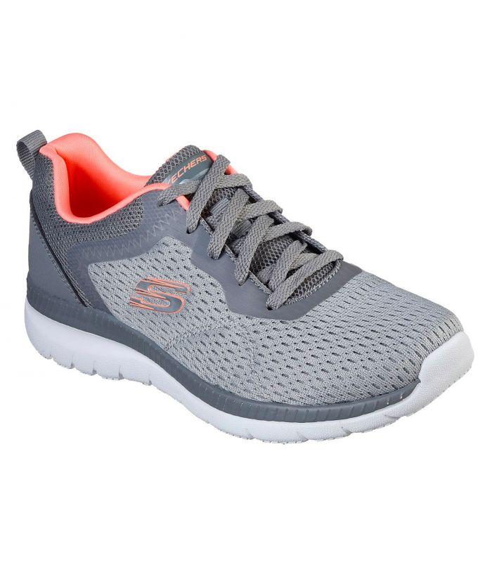 Compra online Zapatillas Skechers Bountiful Quick Path Mujer Gris Coral en oferta al mejor precio