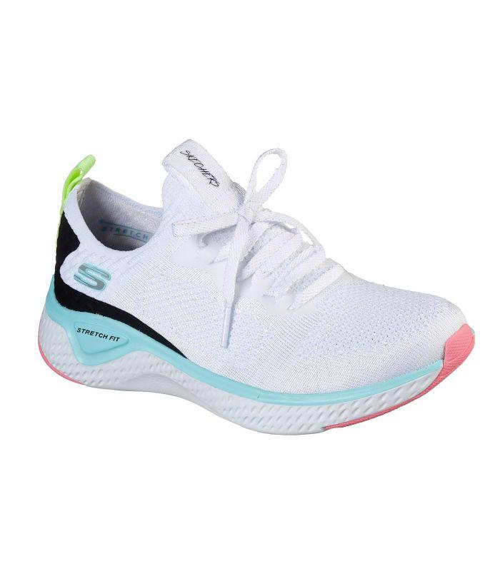 Compra online Zapatillas Skechers Solar Fuse Mujer Blanco en oferta al mejor precio