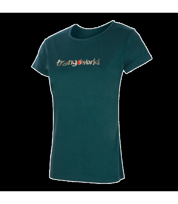 Compra online Camiseta TrangoWorld Watercolour WM Mujer Verde Mar en oferta al mejor precio