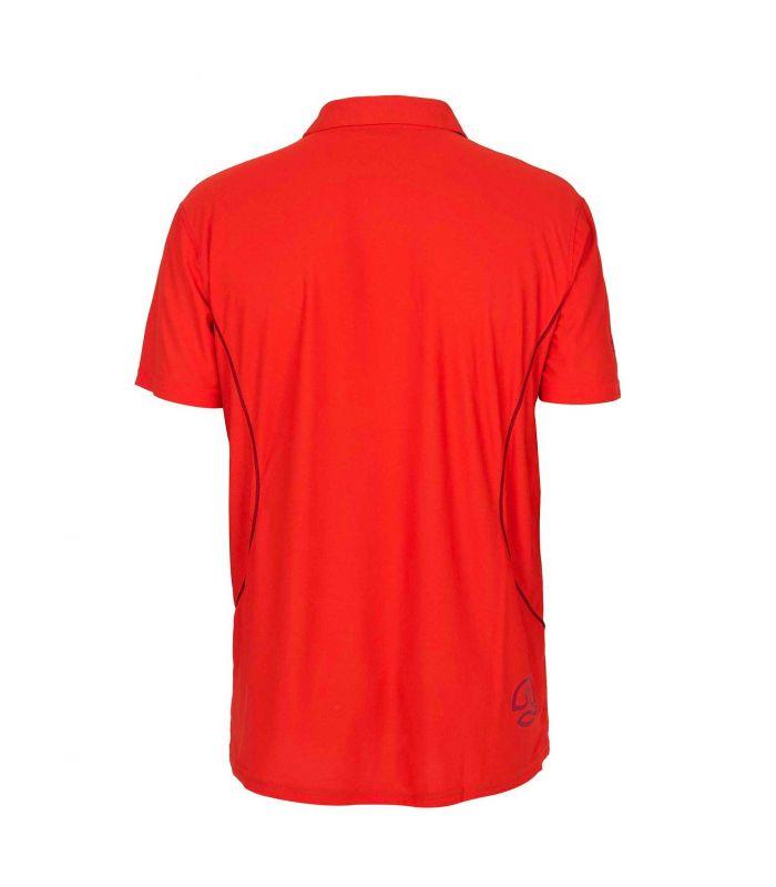 Compra online Polo Ternua Quiapo Hombre Orange Red en oferta al mejor precio