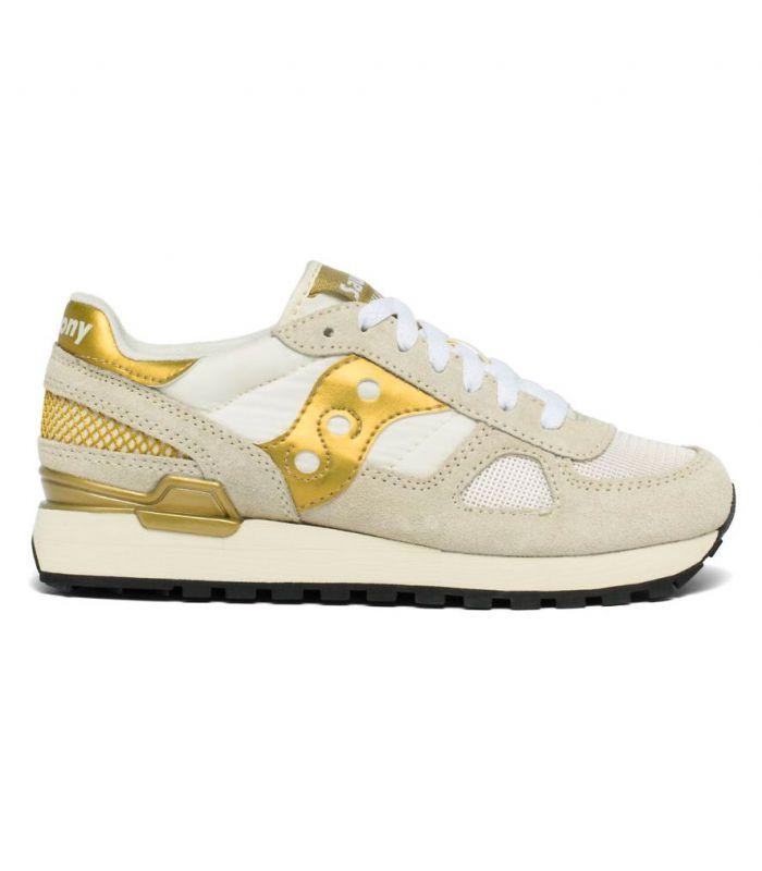 Compra online Zapatillas Saucony Shadow Original Mujer White Gold en oferta al mejor precio