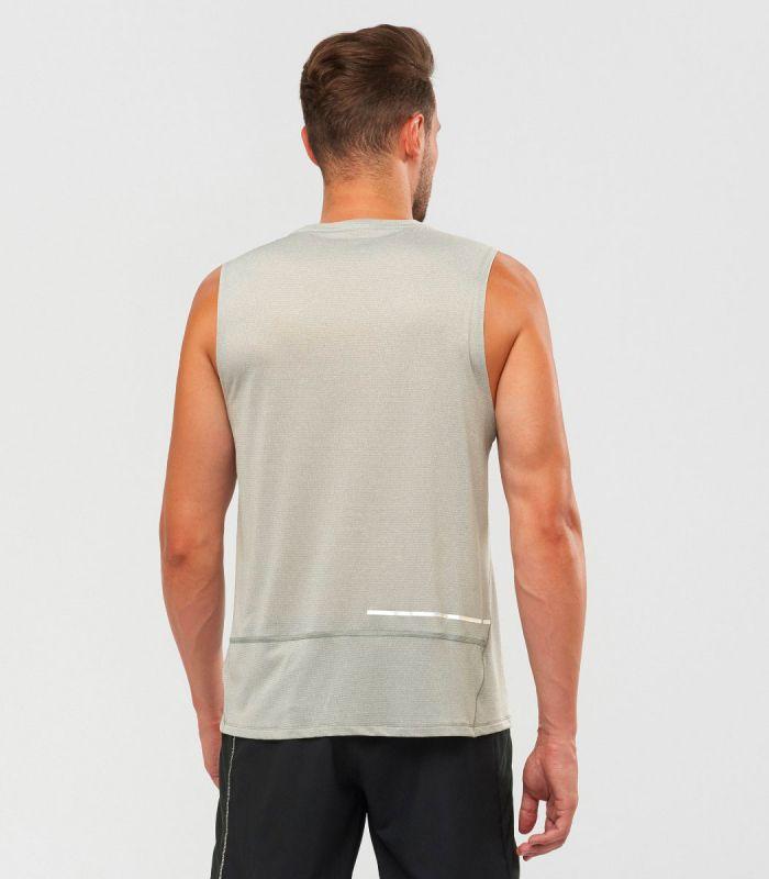 Compra online Camiseta Salomon Agile Tank Hombre Alloy Heather en oferta al mejor precio