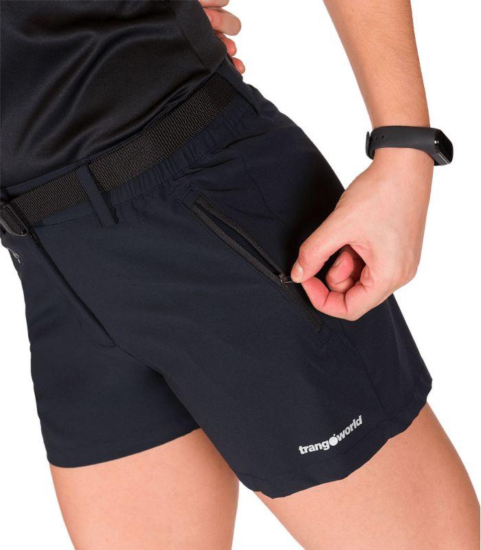 Compra online Pantalones cortos Trangoworld Kumo Mujer Black en oferta al mejor precio