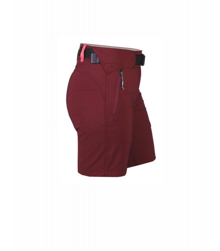 Compra online Pantalones cortos New Wood Larrun Mujer Granate en oferta al mejor precio