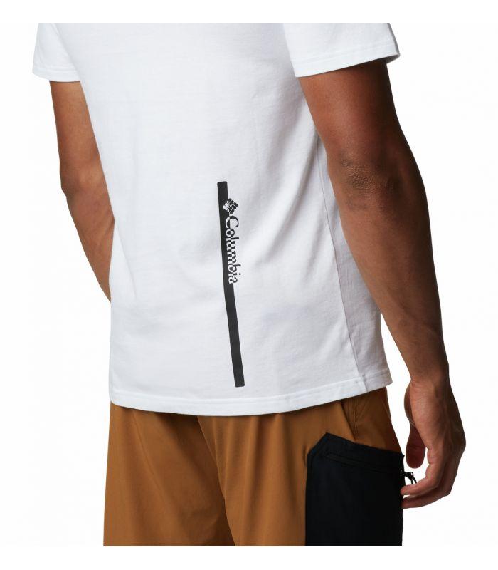 Compra online Camiseta Columbia Minam River Hombre Blanco en oferta al mejor precio