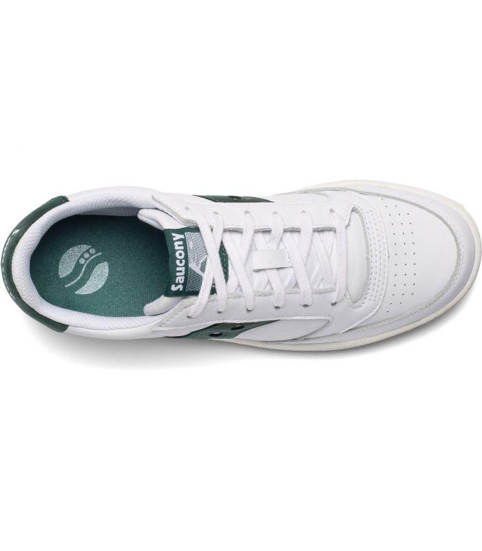 Compra online Zapatillas Saucony Jazz Court Hombre White Green en oferta al mejor precio