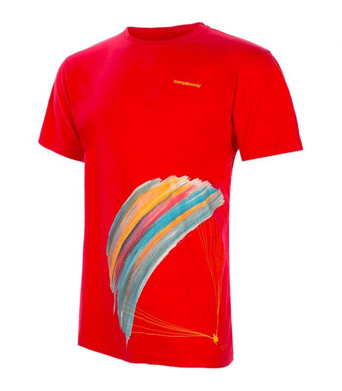 Compra online Camiseta Trangoworld Parapente Hombre Rojo Oscuro en oferta al mejor precio