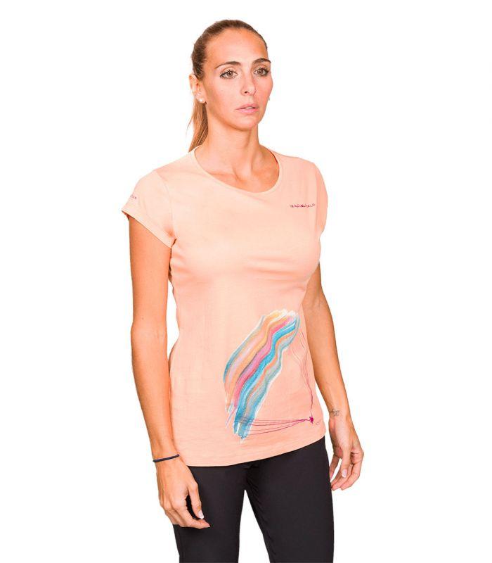 Compra online Camiseta Trangoworld Parapente WM Mujer Salmon en oferta al mejor precio