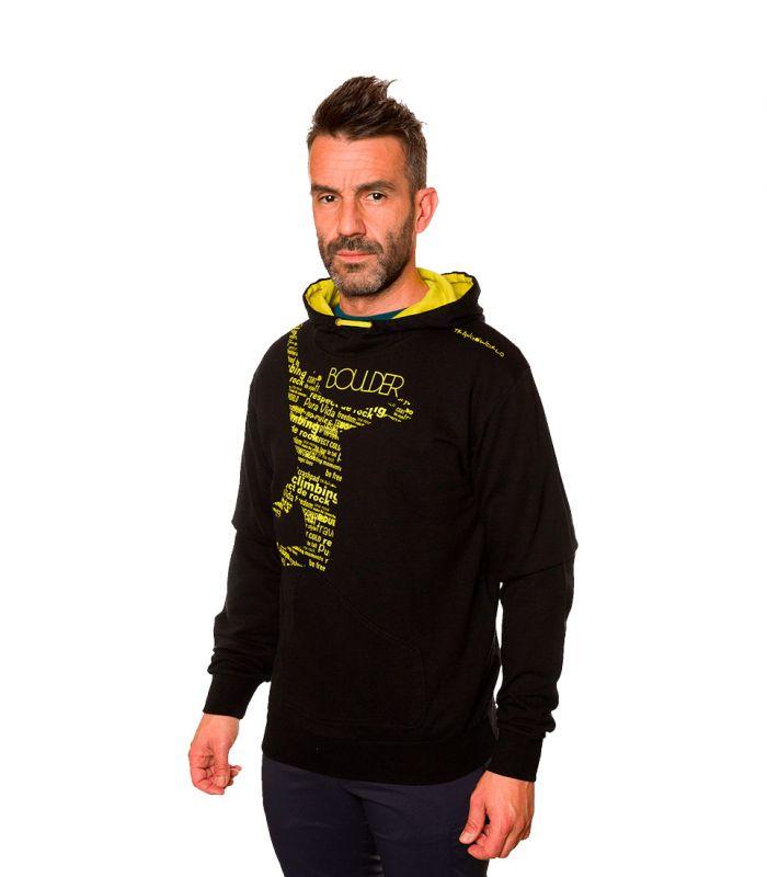 Compra online Sudadera Trangoworld Ticino Hombre Negro en oferta al mejor precio
