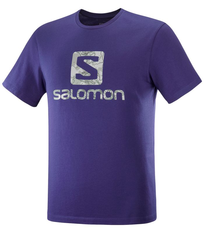 Compra online Camiseta Salomon Mc Outlife Logo SS Hombre Astral en oferta al mejor precio