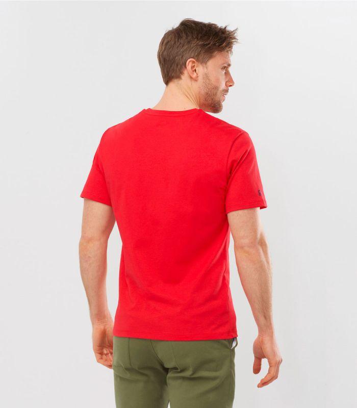 Compra online Camiseta Salomon Mc Outlife Logo SS Hombre Fiery en oferta al mejor precio