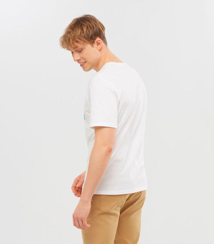 Compra online Camiseta Salomon Mc Outlife Logo SS Hombre White en oferta al mejor precio
