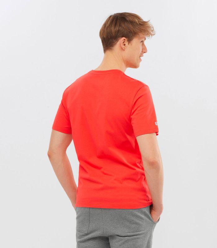 Compra online Camiseta Salomon Mc Outlife Logo SS Hombre Hot Coral en oferta al mejor precio