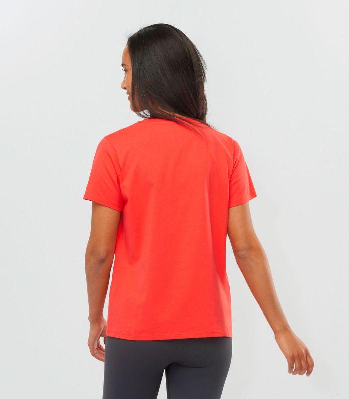 Compra online Camiseta Salomon Mc Outlife Small Logo SS Mujer Hot Coral en oferta al mejor precio