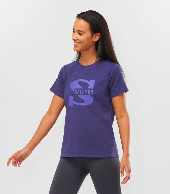 Compra online Camiseta Salomon Mc Outlife Big Logo SS Mujer Astralaura en oferta al mejor precio