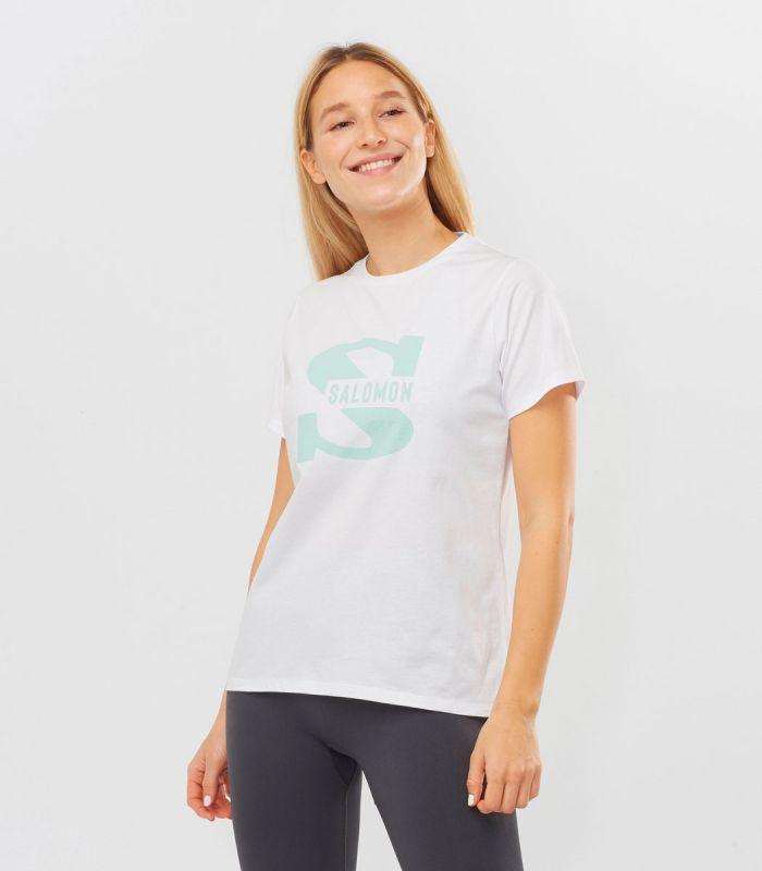 Compra online Camiseta Salomon Mc Outlife Big Logo SS Mujer White en oferta al mejor precio