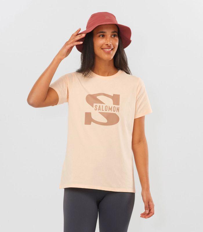 Compra online Camiseta Salomon Mc Outlife Big Logo SS Mujer Nude en oferta al mejor precio