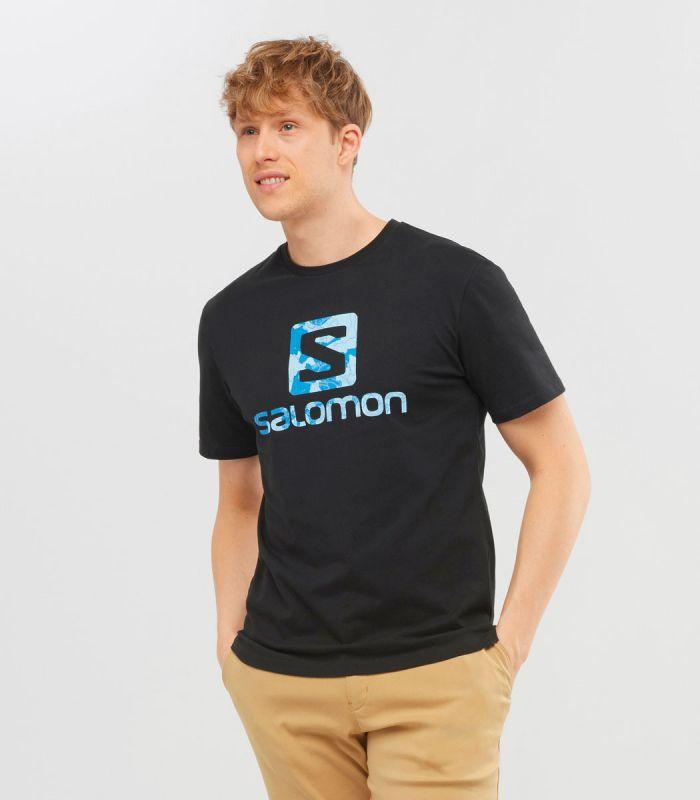 Compra online Camiseta Salomon Mc Outlife Logo SS Hombre Black en oferta al mejor precio