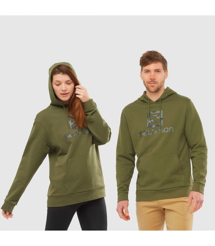 Compra online Sudadera Salomon OutLife Logo Pullover Hoody Olive Night en oferta al mejor precio