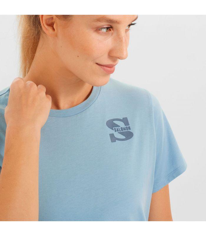 Compra online Camiseta Salomon Mc Outlife Small Logo SS Mujer Ash en oferta al mejor precio
