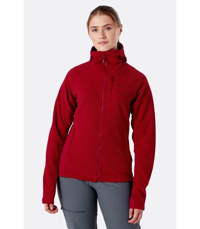 Compra online Chaqueta Rab Capacitor Hoody Mujer Crimson en oferta al mejor precio