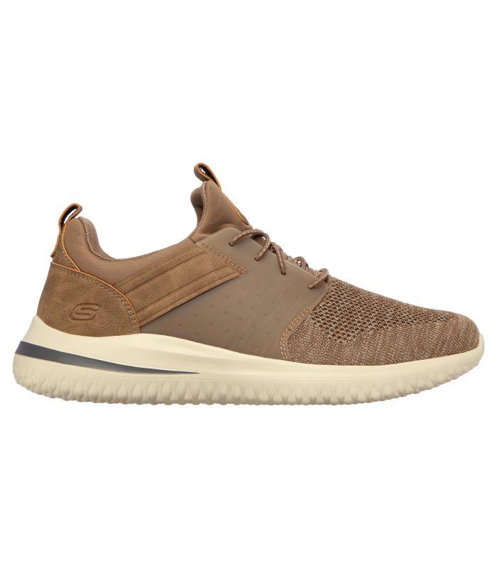 Compra online Zapatillas Skechers Delson 3.0 Cicada Hombre Khaki en oferta al mejor precio
