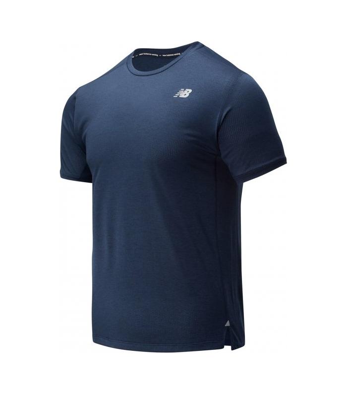 Compra online Camiseta New Balance Impact Run Hombre Eclipse Heather en oferta al mejor precio