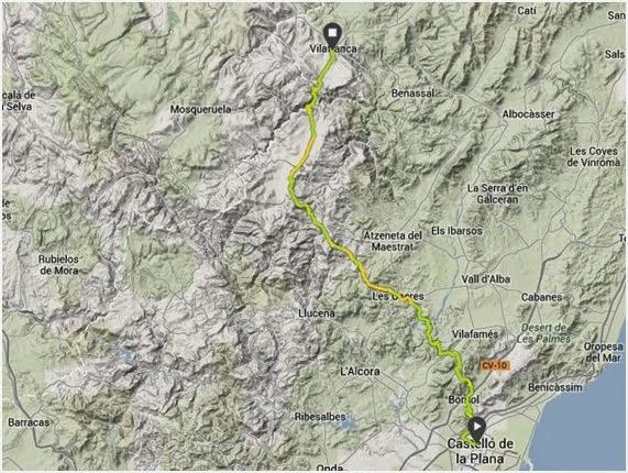 Reto conseguido: completar corriendo los 85 kilómetros por sendas y montañas que separan Castellón y Vilafranca del Cid