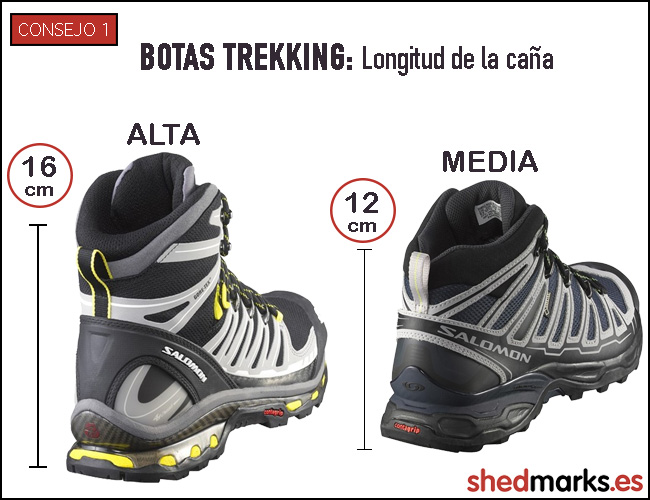 Consejo 1 botas de trekking- longitud de caña